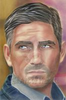 Jim Caviezel Portrait by xMarieDx