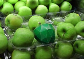 Green Paper Apple by dlax1