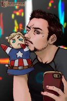 IRON MAN -Tony Selfie-Slash by vtophya