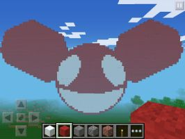 deadmau5 head creation-Minecraft PE by DubstepBrony4Life