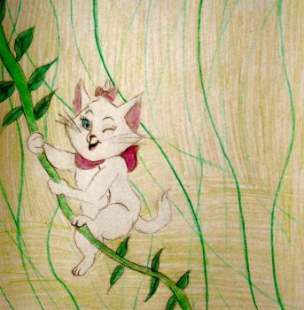 Marie swings on a jungle vine by Ryansmither1