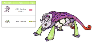Legendary Fakemon Fusion Psychic/Bug by Eternity9