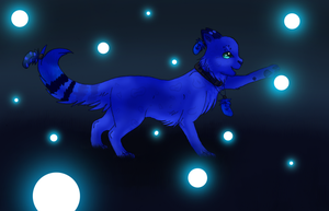 Fuzzy Blue Lights by Keynvii