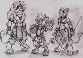 Kingdom hearts 2 TLK anthro by alphaleo14