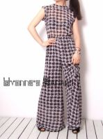 Black White Checked Jumpsuit 2 by yystudio