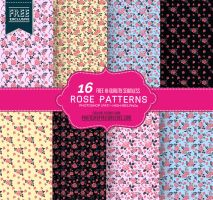 16 Free Seamless Rose Pattern Backgrounds by fiftyfivepixels