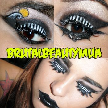 The nightmare before christmas makeup by BBmua by Brittany13Brutal