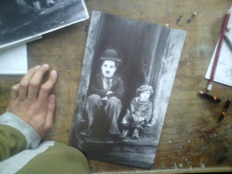 Charles Chaplin with Pencil by KainOc