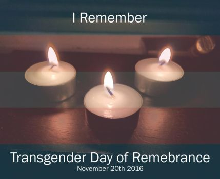 Transgender Day of Remembrance 2016 by AmyBluee42