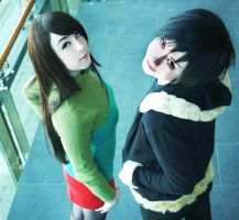 Izaya and Namie by tipsy-g