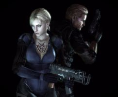 Wesker and Jill by WolfShadow14081990