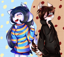 Temmie And Toby by Rooxierookie4