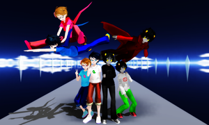 HS x MMD - John Egbert and Karkat Vantas pack DL by xFarEastAlicex