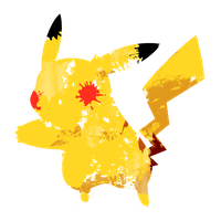 Pikachu 1 Paint Splatter Graphics by HollysHobbies