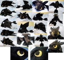 Toothless the Night Fury (commission) by Rens-twin