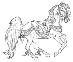 Carousel Horse Celestial by ReQuay