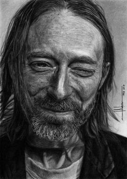 Thom Yorke from Radiohead portrait by SubliminAlex
