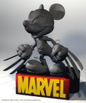 Disney Marvel Mickey wolverine by HelberS