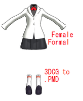 MMD- Female Formal -DL by MMDFakewings18