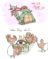 When birds love you and when they don't... by Neko-mirichan