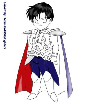 Chibi Endymion coloring lineart progress 1 by animelover101411