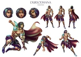 Duryodhana Model Sheet by goldfishkang