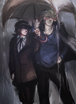 Persona 4- Rain by gravitybeams