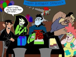 Drakken's Birthday Party by LMColver