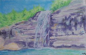 Purple Waterfall by HopperARTZ