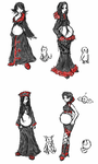 Evil Overlord Fashion Sketches by Kazuv