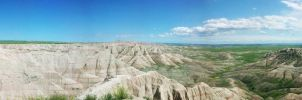 Badlands Panorama p1 by dusthimself
