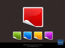 Glossy Sticker Icon by designstub