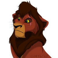 Grumpy Kovu by Mganga-The-Lion