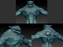 Sculpting the DAZ3D NyBras by mestophales