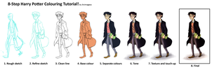 Harry Potter Coloring Tutorial by animagess