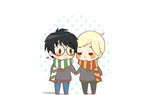 Chibi Drarry- Taking a Stroll by Cremebunny