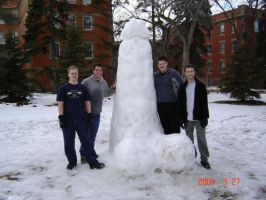 Giant snow penis by cherubchick