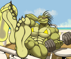 The Body Builder's Vacation by zp92