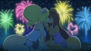 Peaches and Cream Firework Kiss by CookingPeach