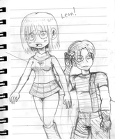 Ashley and Leon by VooDooDollMaster