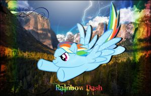 Rainbow Dash Falls to Sky by FRossR