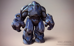 Zbrush Beta Mech by MikeJensen