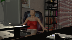 Old Woman in an Office 1 by ChiiLissa