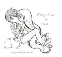 Marshall lee x Allie by LadyCarroll