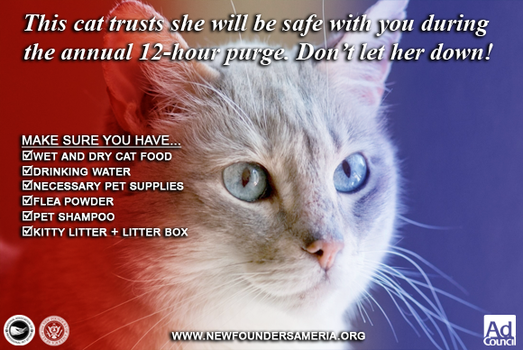 Purge Pet Safety Ads: For Cat Owners by FearOfTheBlackWolf