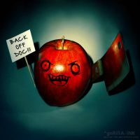 ...The Doctor Away Apple... by goRillA-iNK