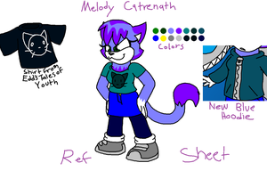 Melody Catrenath Reference Sheet(Updated) by KittyMelodies