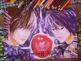 Light and L from Death Note by Tenemur
