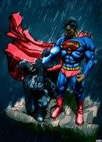 Superman vs Batman by LeeBaba