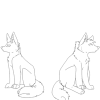 Canine lineart by FluffyOfDoom